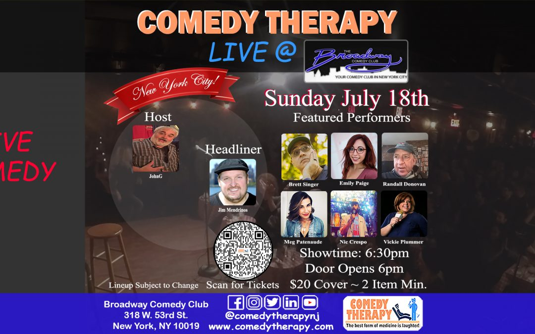 Comedy Therapy Live @ Broadway Comedy Club