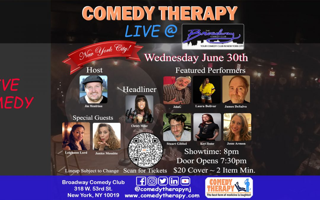 Comedy Therapy Live @ The Broadway Comedy Club