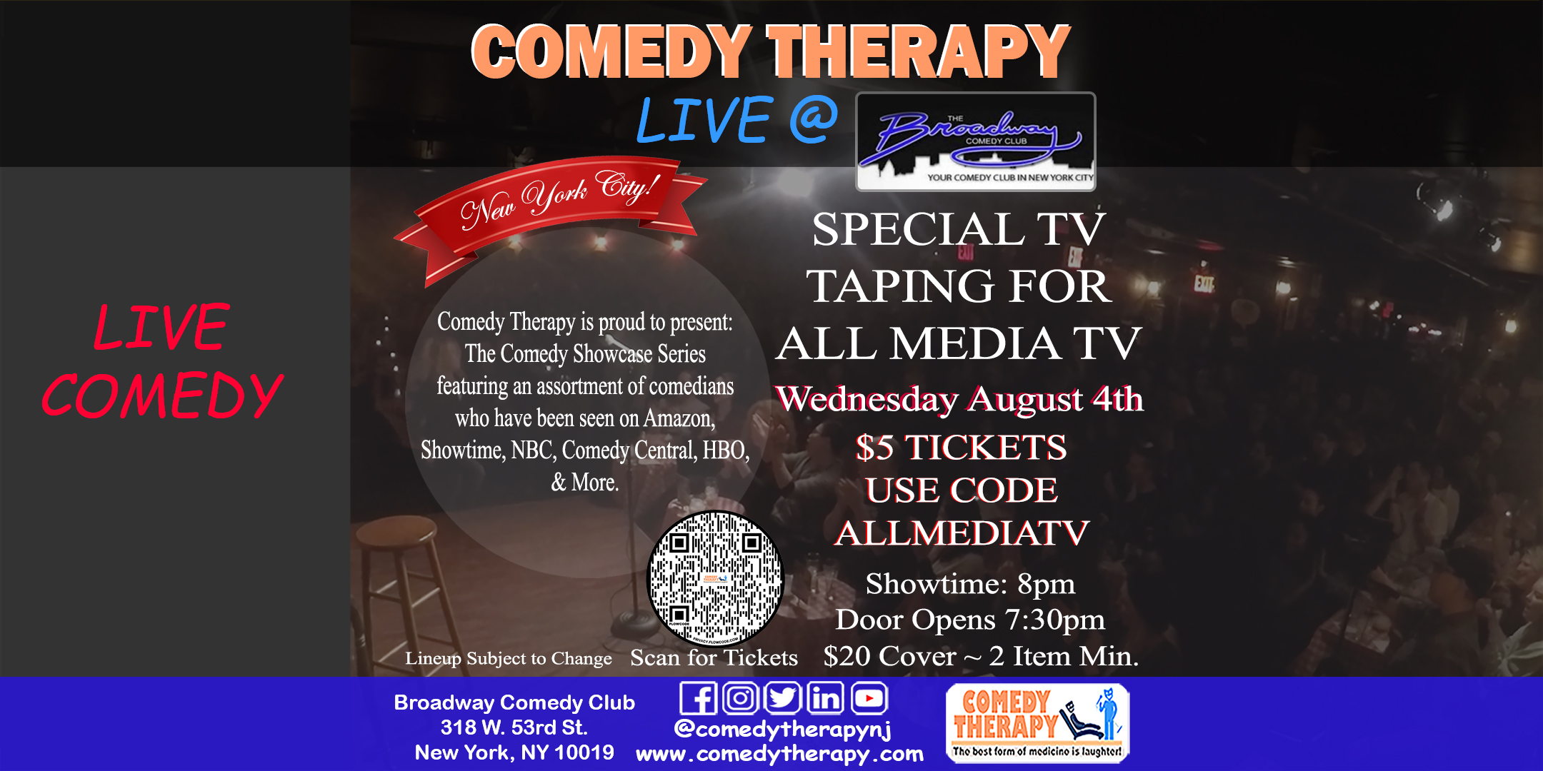 CT Live at Broadway Comedy Club