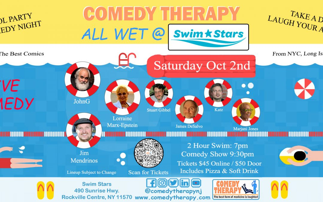 Comedy Therapy All Wet Comedy at the Swim Stars