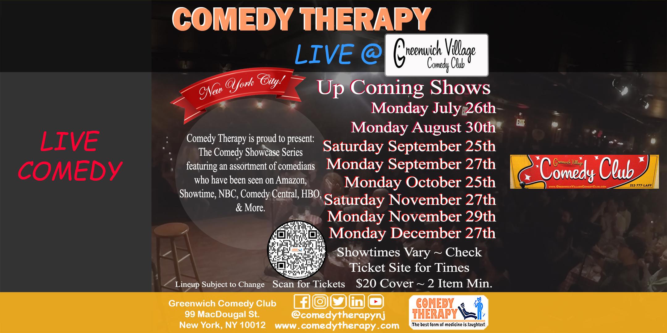 Comedy Therapy Live Greenwich Comedy Club