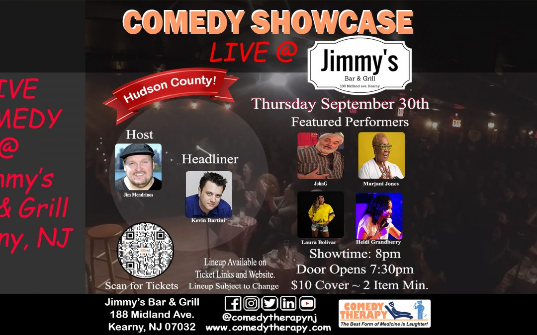 Comedy Therapy Showcase @ Jimmy's Bar & Grill