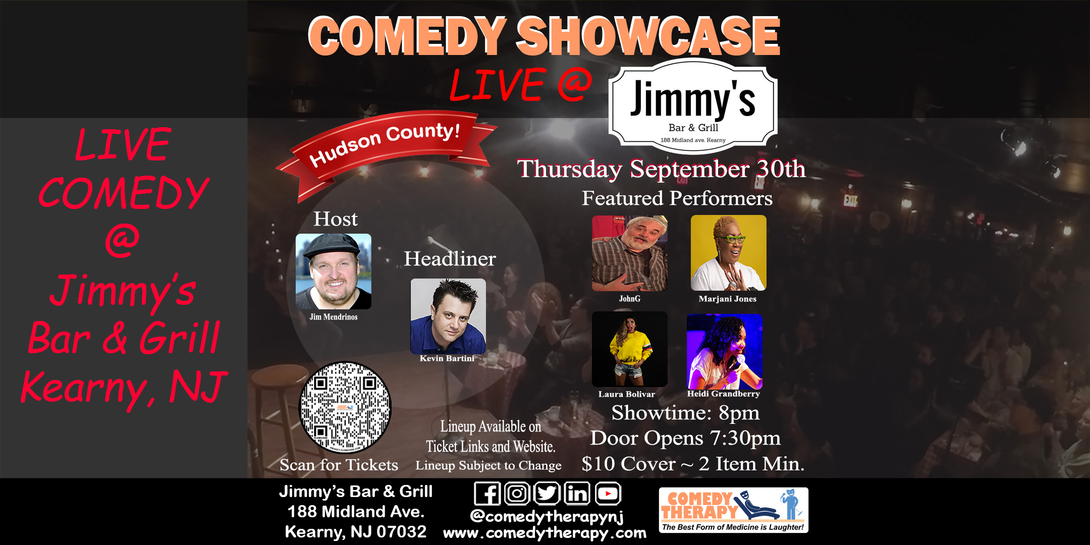 Jimmy's Bar & Grill Sept 30th