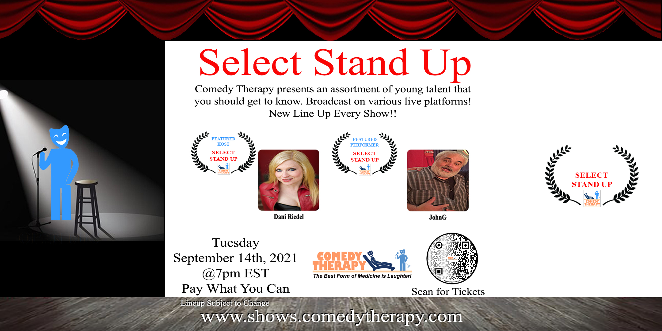 Select Stand Up Sept 14th