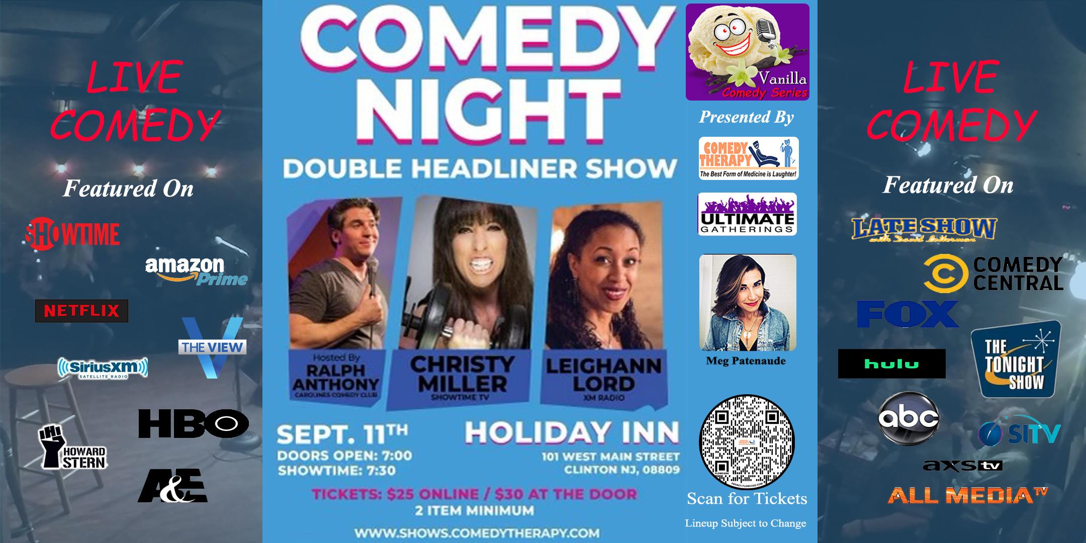 Vanilla Comedy Series Clinton Sept 11th